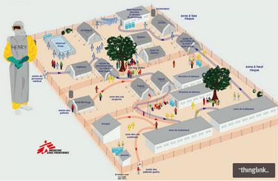 Centre de traitement de l'Ebola, infographie interactive de MSF