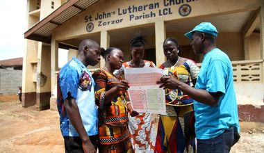 Coalition partner UNICEF raises awareness about the spread of Ebola within communities of Lofah County, Liberia