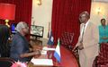 Sierra Leonean President Ernest Koroma lauds UNMEER, commends outgoing Crisis Manager