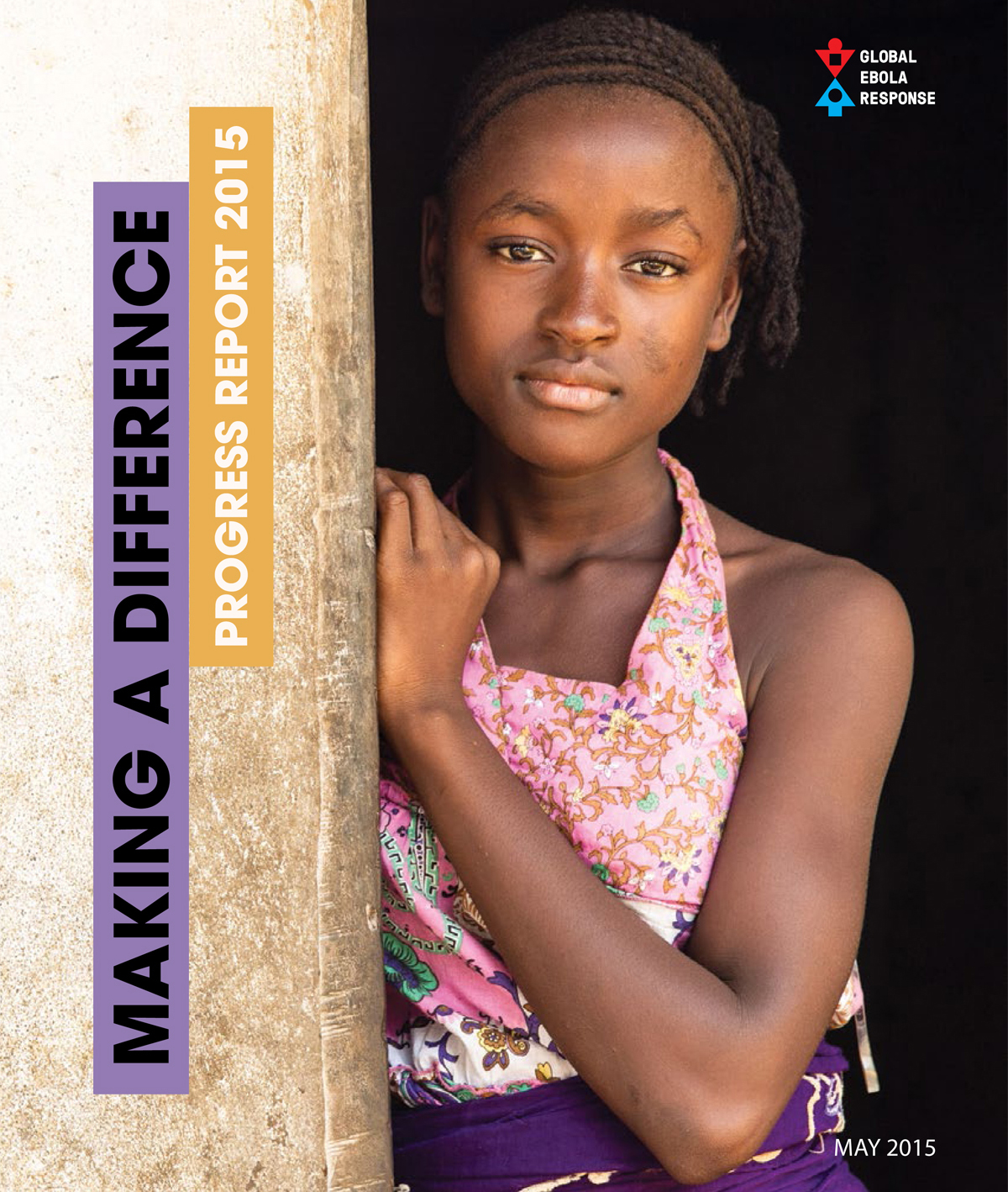 """Cover of the report \""""Making a difference - progress 2015\"""""""