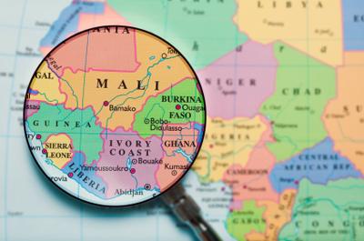 Carte de l'Afrique de l'Ouest